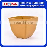 Assorted Colors Bamboo Biodegradable Bamboo Fiber Tapered Square Mini Planters Garden Flower Pots Plant Pot