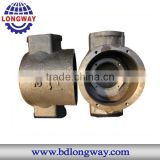 Precision metal casting valve body,Top Quality sand cast ductile iron valve parts according your drawing