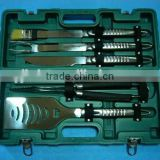 5pcs Stainless Steel BBQ Tools Set With Plastic Case Barbecue Tableware Barbecue Grill Set