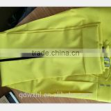 man pant made in China, bespoke pant with shining yellow color