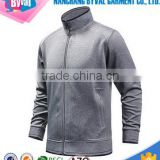 Fitness wear Full Zip Jacket Hoodies Gym Training Jacket Grey Color With Thumb Cuffs Jacket