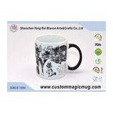 Ceramic Custom Magic Photo Mug with Handle , Heat Changing Photo Mugs