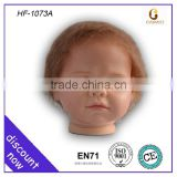 China online reborn wig babies, plastic doll face, plastic doll face factory