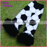 Black white knit children socks lace sports leggings ruffle baby football leg warmers