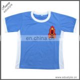 Wholesale Custom Made Embroidered Blue Boys Kid Shirt