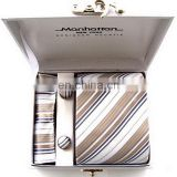 Low price best sell custom silk necktie with hanky set
