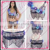 Aidocrystal Wholesale Floral Studded Bead and Sequin Bra Top Colorful Handmade Sexy Belly Dance Bra