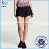 Trade Assurance Yihao Women Sports Gym Wear custom wholesale Tennis Skater yoga Skirt running workout for women cloting