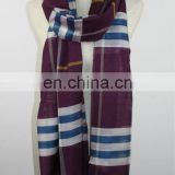 grid fashion scarf men fleece scarf
