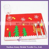 CD02 christmas decoration 2016 table kids placemat with lovely elk