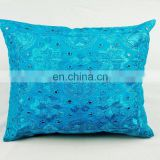 Indian patchwork ethnic beaded handmade embroidery Cotton Cushion