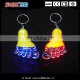 Promotion mini foot shape flashing led keychain
