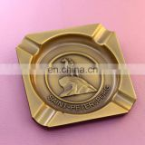 Square with rounded corners plating bronze injection processing ashtray wholesale