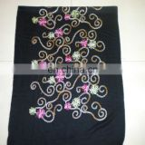 small chain embroider scarf 170*68cm lady's scarf woman shawl