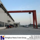China HSHCL High quality 5 ton single girder electric hoist semi girder gantry crane at workshop