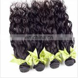 Wholesale price high quality 100% virgin natural human hair water wave hair extensions wavy extension black