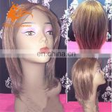Alice Princess Hair Wigs Lace Wig Bob Style Factory Color Lace Front Wig Straight Short Brazilian Human Hair