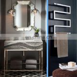 Iron frame simple bathroom vanity for Amerian hotel
