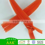 #3 Orange tape Lace C/E Zipper Invisible zipper with waterdrop slider lace zipper garment accessories