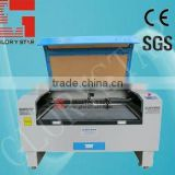 Dongguan supplier promotional 100w /130w glass tube leather shoes laser cutting machine for engraving , cutting , hollowing
