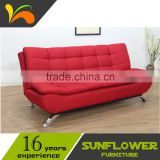 Hot selling Double Cushions Fabric Relax Folding Chair Sofa Bed Home Furniture From China