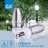 Waterproof IP64 5 years warranty epistar chips led corn light bulbs area light cobra head