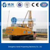 Powerful HF856A hydraulic rotary piling driver engineer oversea service ok for bridge rode foundation building