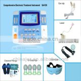 integrated 7channels household e-therapy instrument with ultrasound,laser,heating and e-cupping LGHC-33