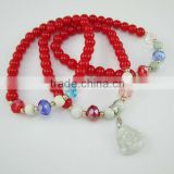 2013 fashion glass bracelet with buddha charm