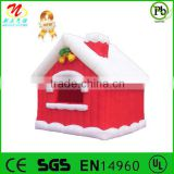 Christmas theme inflatable cartoon house christmas decoration house christmas safety cartoons