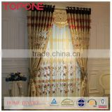 High grade accuracy quality oem hangzhou elegant embroidery polyester window printed curtains