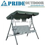 Leisure 3 Person Swing Canopy Stripe Reclining Outdoor Patio Swing Chair