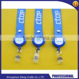 Wholesale custom printed neck lanyards with retractable badge reel holder
