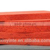 Custom Natural rubber red silicone spong sheet