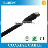 Factory price black TV connector CCTV coaxial video cable