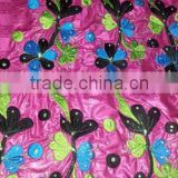 embroidery design women boubou bazin riche dresses fabric ankara fabric with floral pattern