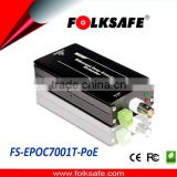 Folksafe single wireless/no wifi ethernet power over coax nice one transmitter IEEE802.3af PoE 10/100Mbps