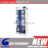 SSC 805DS2 series vented chemical safety cabinet with double filter , compartments and double doors