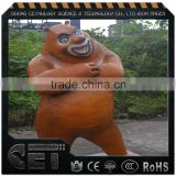 fiberglass animals bear animal sculpture life size anime figure