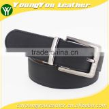 New arrive pu reversible leather belt with microfiber leather jeans with interchangeable alloy accessories