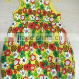 wholesale halter dress latest flower printed baby smocked dress