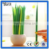 Newest design silicone pen, high quality plastic grass ball pen,silicone leaf advertising ball pen