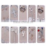 Diamond Bling Clear Hard Plastic Mirror Case for iPhone 4 5 6 6plus