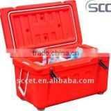 60L Rotomolded Red Picnic Cooler Container Cooler Carrier
