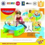 Hot sale toy 2 in 1 good quality learning desk toy set,deluxe learnig table toy