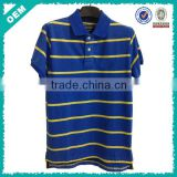 Men's Stripe Polo Shirt Blue And Yellow (lyt-060058)