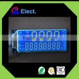 negative character white symbol segement character money-counting machine lcd display,lcd digital counter display,