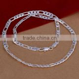 wholesale thick 6mm 20inchs necklace chain 2014 fashion women pendant jewelry 925 sterling silver necklace
