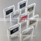 shenzhen factory mini acrylic photo frame,acrylic magnetic photo frame,2x3 acrylic picture frame