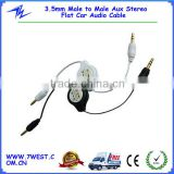 3.5mm Male to Male Aux Stereo Flat Car Audio Cable